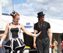 stilt walkers at a festival in Australia performing near Melbourne