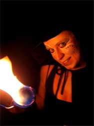 Melbourne circus performance with fire acts