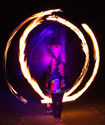 fire twirling clubs, circus