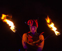fire eating routine, circus