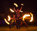 human pyramids, fire performance