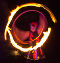 fire hula hoop, eve everard, circus