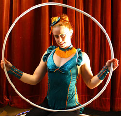 hula hoop circus artist now traveling with eden bros good time circus