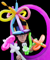 children's entertainment and party solutions. Balloon twisting, balloon art, balloon modeling and circus performers