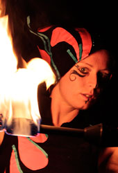 fire entertainers circus performer
